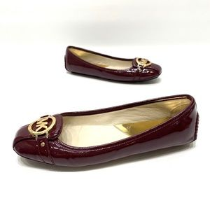 Michael kors maroon patent leather loafer size 8.5